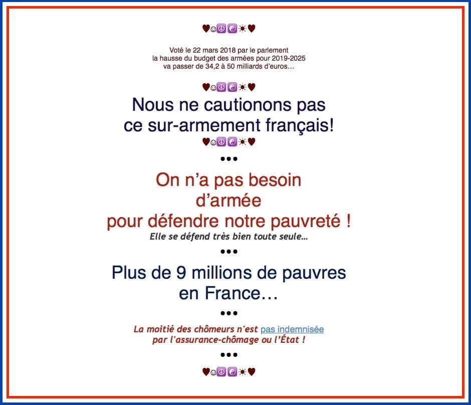 le surarmement français